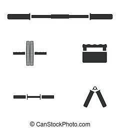 ベクトル, illustration., 装置, スポーツ
