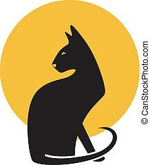 ベクトル, illustration., cat.