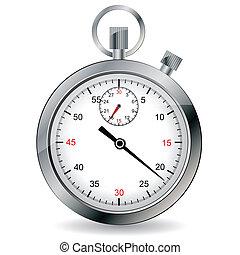 ベクトル, illustration., stopwatch.