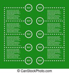 ベクトル, infographic, テンプレート, 背景
