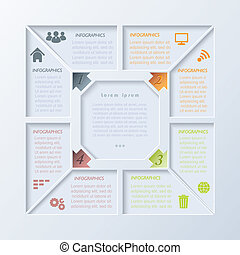 ベクトル, infographic, デザイン, 現代, テンプレート