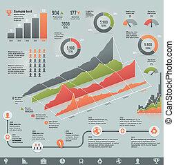 ベクトル, infographic, ビジネス, 関係した