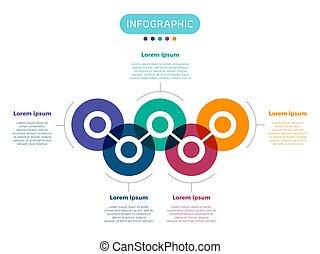 ベクトル, infographic, 要素