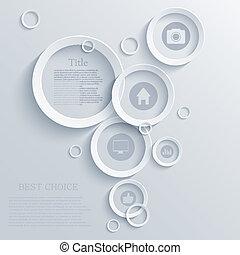 ベクトル, infographic, eps10, 背景, design.