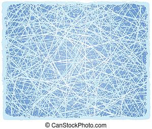ベクトル, lines., グランジ, 背景, 氷