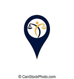 ベクトル, logo., ポイント, notary, サービス, 法的, 正義, ∥あるいは∥, 保有物, justice., スケール, アイコン, シンボル, 教育, 弁護士, 人間, ピン