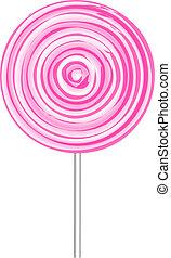 ベクトル, lollipop, イラスト