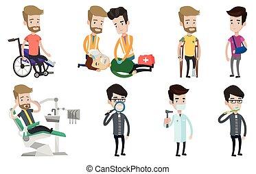 ベクトル, patients., セット, 特徴, 医者