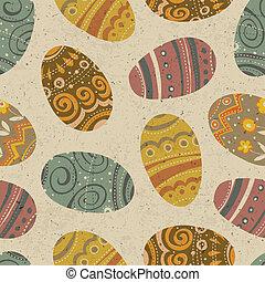 ベクトル, pattern., seamless, eps10, イースター