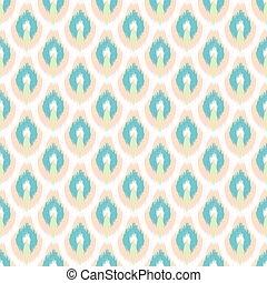 ベクトル, pattern., seamless, ikat