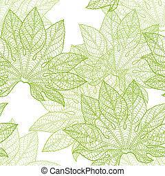 ベクトル, pattern), (seamless, leaves., イラスト