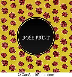ベクトル, roses., 背景, イラスト, 赤
