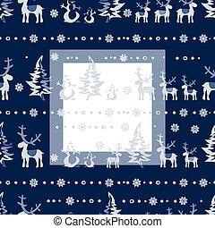 ベクトル, seamless, クリスマス, 3