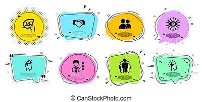 ベクトル, set., 大使, ブランド, ブレーンストーミング, ユーザー, アイコン
