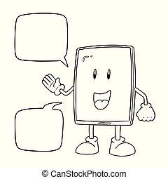 ベクトル, smartphone, 漫画