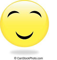 ベクトル, smiles., illustration., コレクション