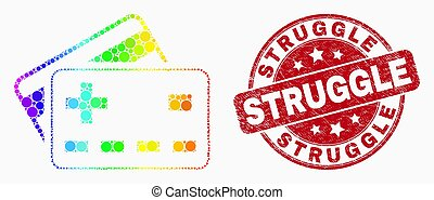 ベクトル, spectral, シール, 切手, 苦闘, 銀行, プラス, 点を打たれた, アイコン, カード, グランジ
