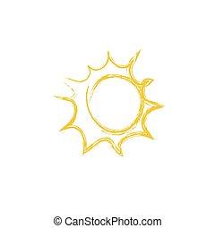 ベクトル, sun., 図画, イラスト