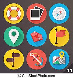 ベクトル, web., セット, 11., アイコン