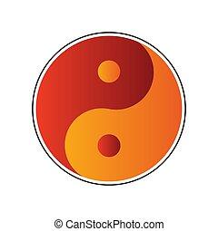 ベクトル, yan, yin, アイコン