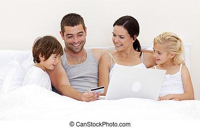 ベッド, オンラインで, 家族, 購入