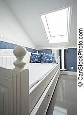 ベッド, 中に, 保温カバー, 部屋
