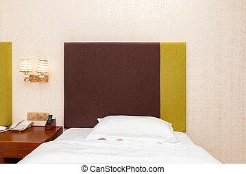 ベッド, 中に, a, ホテルの部屋