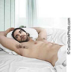 ベッド, 人