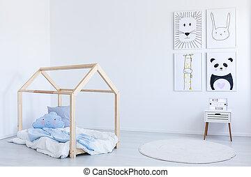 ベッド, 男の子, diy, 部屋