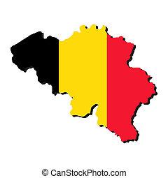 ベルギー, 地図, 旗