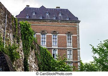 ベルギー, 都市, 小さい, 古い, 修道院
