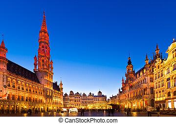 ベルギー, europe., ブリュッセル, markt, grote