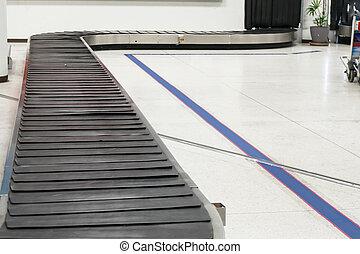 ベルト, 手荷物, ぼんやりさせられた, 空港。, コンベヤー