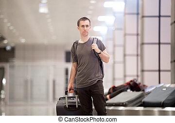 ベルト, 手荷物, 旅行者, コンベヤー