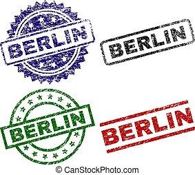 ベルリン, 切手, シール, textured, 傷つけられる