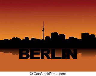 ベルリン, 日没, スカイライン