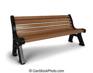 ベンチ, 木製である