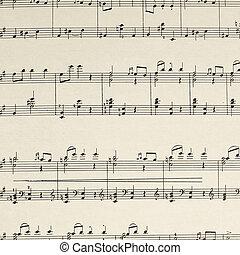 ベートーベン, シート, -, ページ, 音楽, 構成