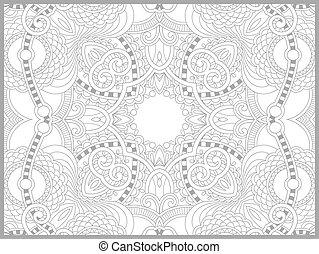 ペイズリー織, 着色, 成人, -, 本, デザイン, 花, 独特, ページ