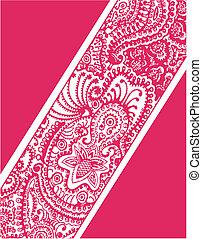 ペイズリー織, 花, カバー