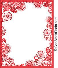 ペイズリー織, 花, フレーム