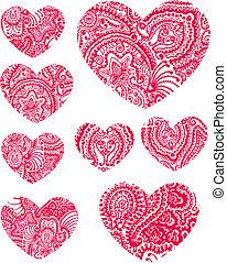 ペイズリー織, 花, 熱, 要素