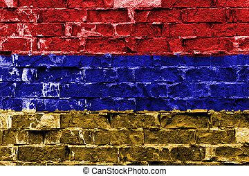 ペイントされた壁, 旗, れんが, アルメニア
