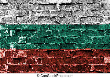 ペイントされた壁, 旗, れんが, ブルガリア