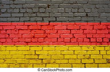 ペイントされた壁, 旗, ドイツ, れんが