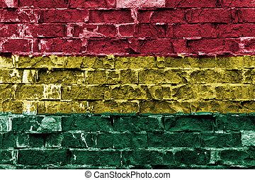 ペイントされた壁, 旗, ボリビア, れんが