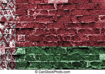 ペイントされた壁, 旗, belarus, れんが