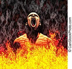 ペイントされた, 地獄
