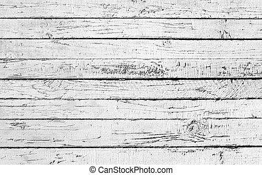 ペイントされた, 木製である, 白, 板, 外気に当って変化した