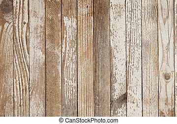 ペイントされた, 白, 木, 古い